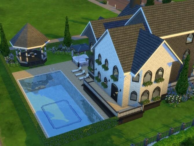 Sims 4 Lavendar Banks by ginkgovio at TSR