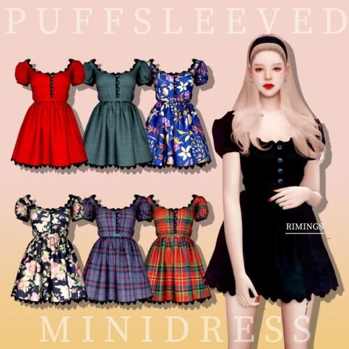 Puff Sleeved Mini Dress