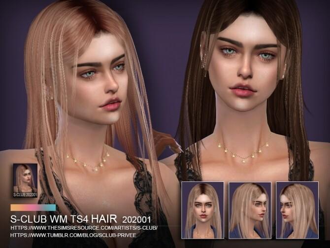 Sims 4 Hair 202001 by S Club WM at TSR