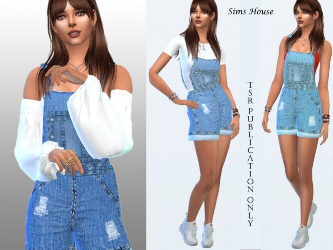 Denim overalls with shorts by Sims House