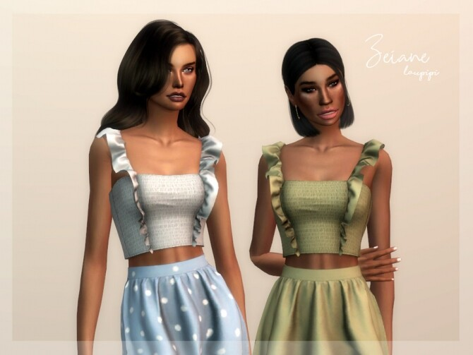 Sims 4 Zeiane top by laupipi at TSR
