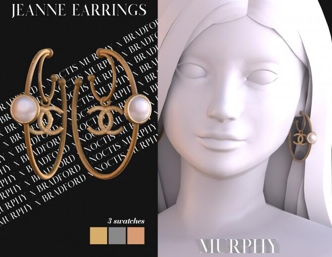Sims 4 Jeanne Earrings by Silence Bradford at MURPHY