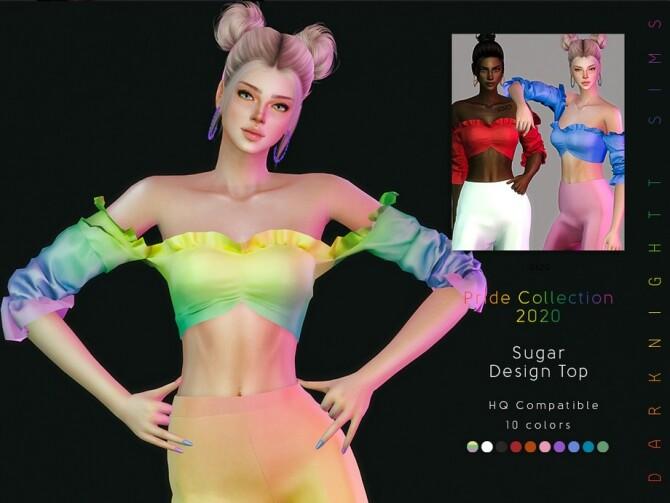 Sims 4 Sugar Design Top by DarkNighTt at TSR