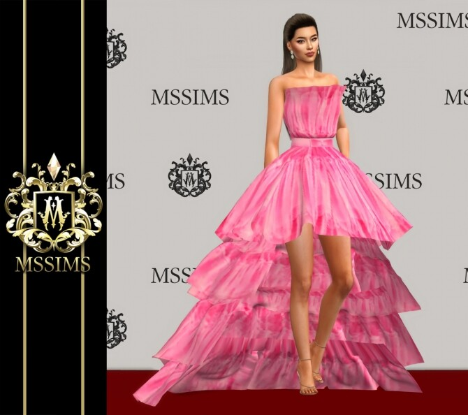 LONG & SHORT GOWN (P) at MSSIMS image 14516 670x594 Sims 4 Updates
