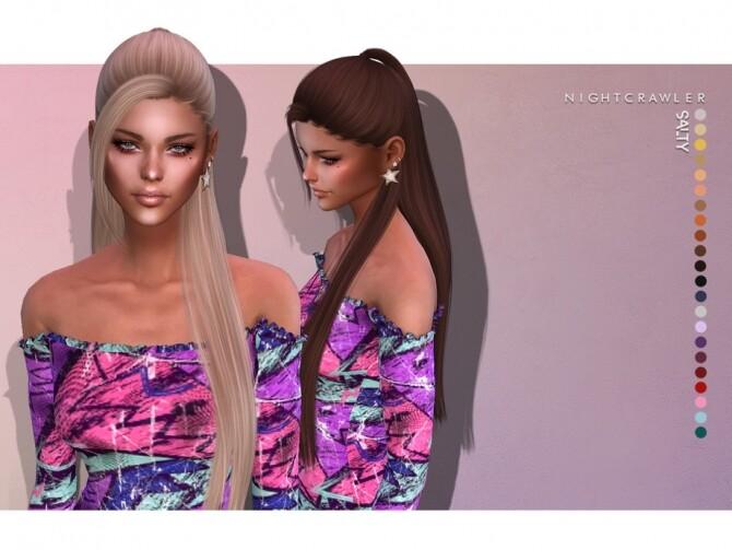 Sims 4 Salty HAIR by Nightcrawler Sims at TSR