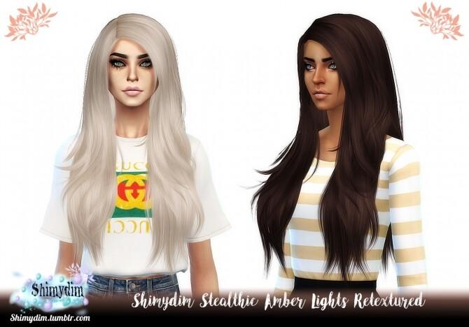 Sims 4 Stealthic Amber Lights Hair Retexture Naturals + Unnaturals at Shimydim Sims