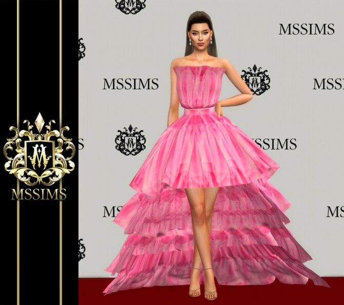 LONG & SHORT GOWN (P) at MSSIMS image 14617 670x594 Sims 4 Updates