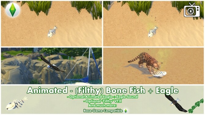 Animated Filthy Bone Fish Eagle by Bakie