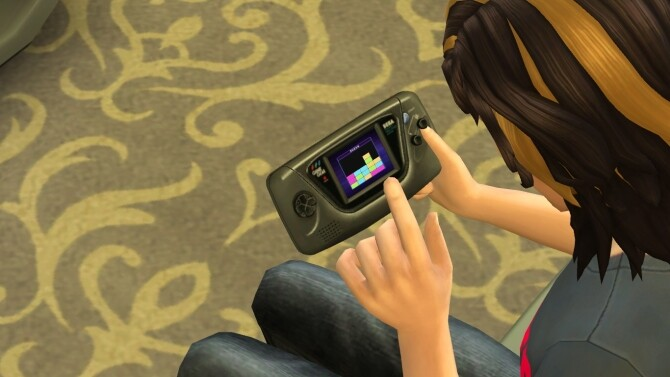 Sims 4 Usable SEGA Game Gear console by LightningBolt at Mod The Sims
