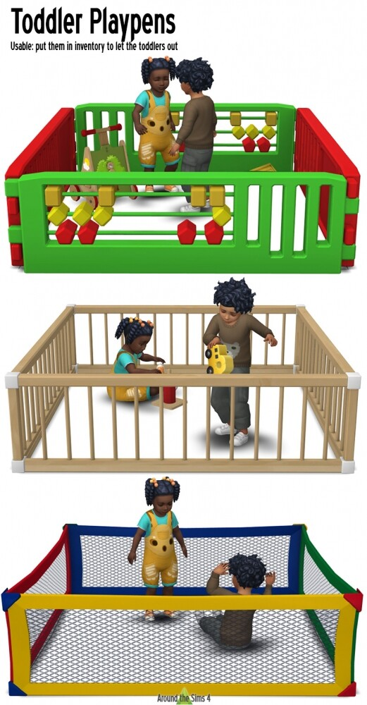 Toddler Playpens by Sandy at Around the Sims 4 image 1472 521x1000 Sims 4 Updates