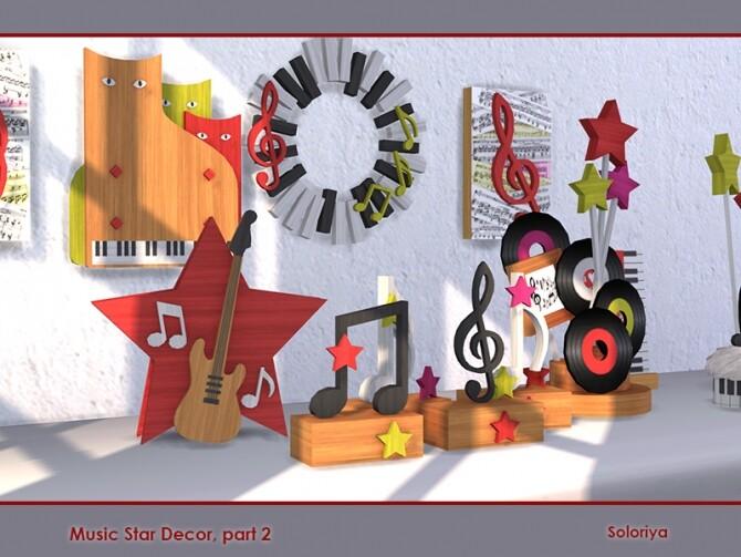 Sims 4 Music Star Decor part 2 by soloriya at TSR