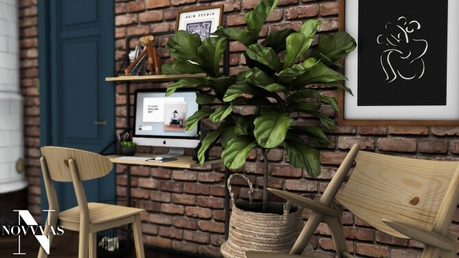Sims 4 LOFT LIFE SET at Novvvas