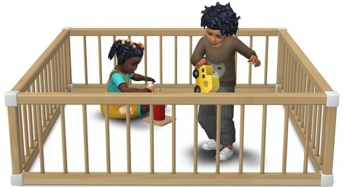Sims 4 Toddler Playpens by Sandy at Around the Sims 4