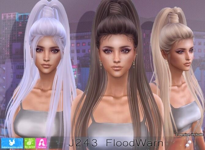 Sims 4 J243 FloodWarn hair (P) at Newsea Sims 4