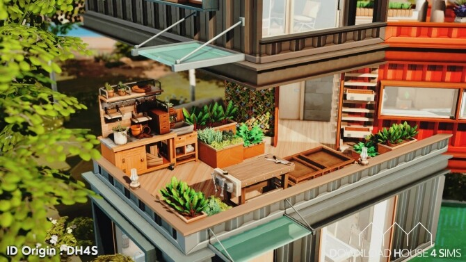 Sims 4 Container Eco House at DH4S