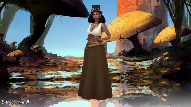 Sims 4 CAS Backgrounds Mushrooms World at Annett's Sims 4 Welt