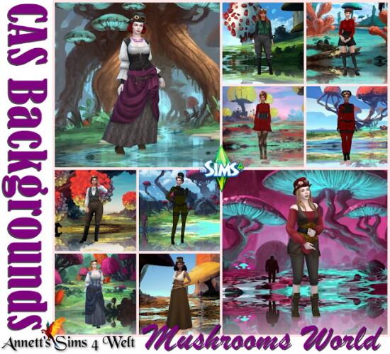 CAS Backgrounds Mushrooms World