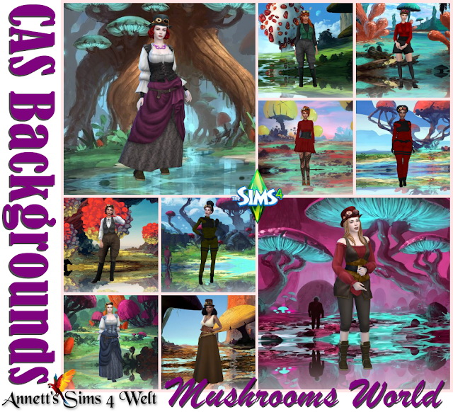 CAS Backgrounds Mushrooms World at Annett's Sims 4 Welt image 1506 Sims 4 Updates