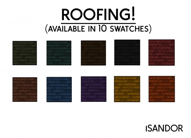 Sims 4 Roofing by iSandor at Mod The Sims