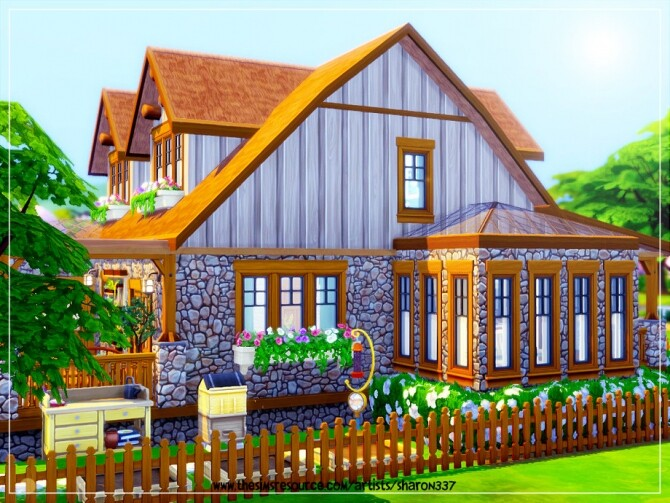 Sims 4 Hawthorn Cottage Nocc by sharon337 at TSR