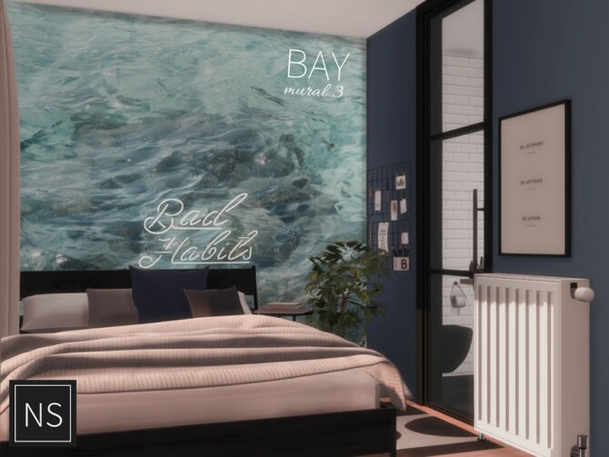 Sims 4 Bay Wall Murals by Networksims at TSR