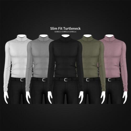 Slim Fit Turtleneck for males