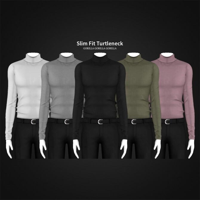Slim Fit Turtleneck for males at Gorilla image 1511 670x670 Sims 4 Updates