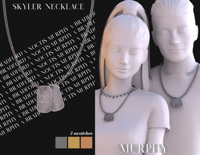 Sims 4 Skyler Necklace by Silence Bradford at MURPHY