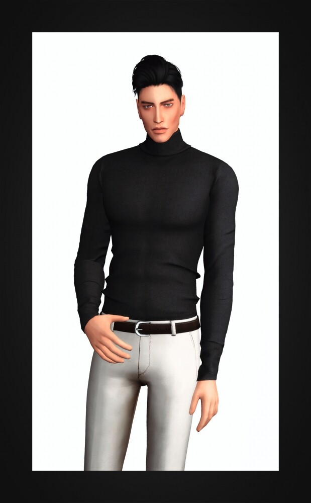 Sims 4 Slim Fit Turtleneck for males at Gorilla