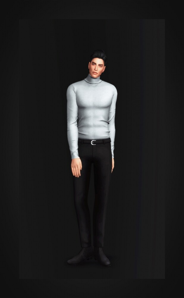 Slim Fit Turtleneck for males at Gorilla image 1531 619x1000 Sims 4 Updates