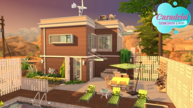 Sims 4 Oasis Spring Solar House by Caradriel at Mod The Sims