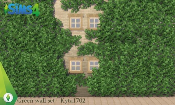Sims 4 Green wall set by Kyta1702 at Simmetje Sims