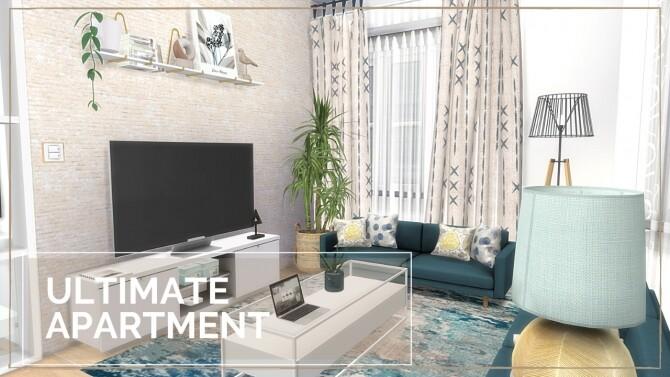 Sims 4 ULTIMATE APARTMENT at Dinha Gamer