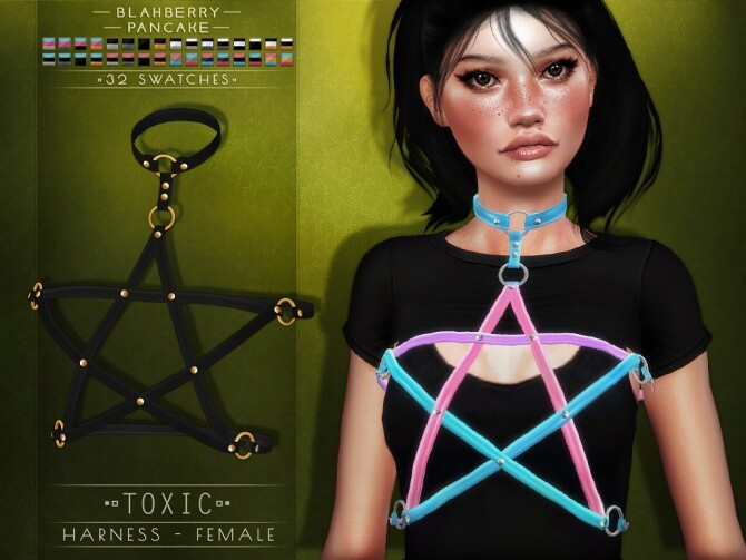 Sims 4 Toxic harness at Blahberry Pancake