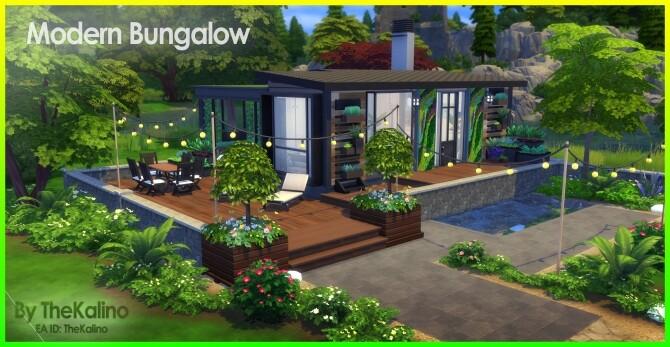 Sims 4 Modern Bungalow at Kalino
