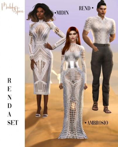 RENDA SET Dresses and shirt