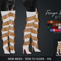 FRINGE BOOTS TWO VERSIONS