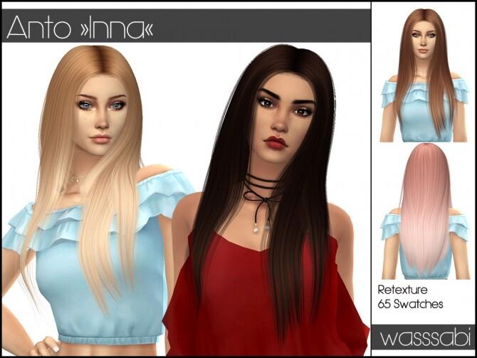 Sims 4 Anto Inna Hair Retexture at Wasssabi Sims