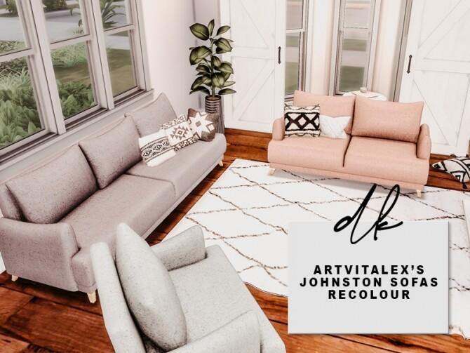Sims 4 Recolour of ArtVitalex's Johnston Sofas at DK SIMS