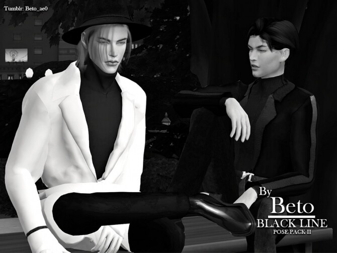 Sims 4 Black Line II Pose Pack by Beto ae0 at TSR