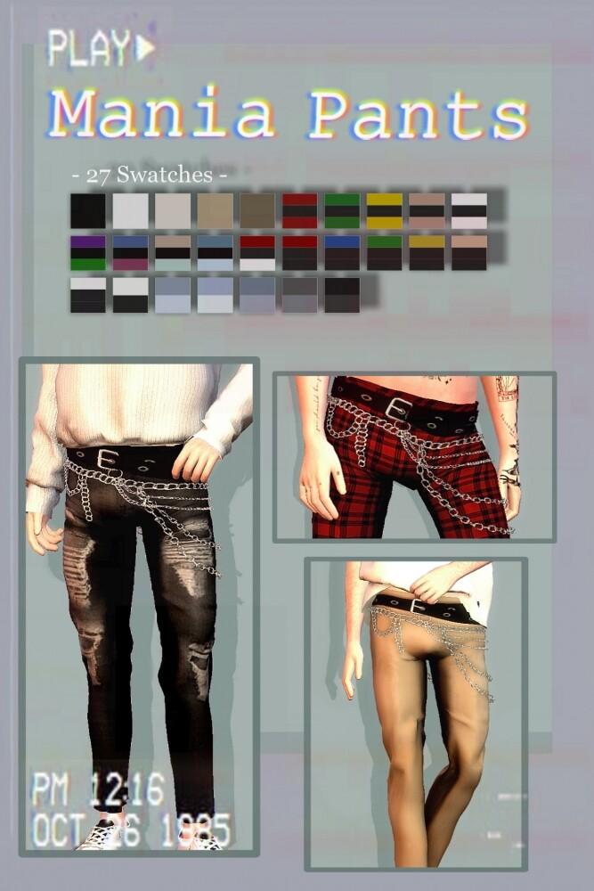 Mania Pants at EvellSims image 1623 667x1000 Sims 4 Updates