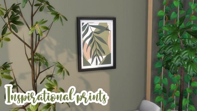 Sims 4 Inspirational Prints at Celinaccsims