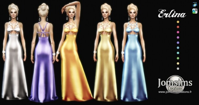 Erlina dress at Jomsims Creations image 1655 670x355 Sims 4 Updates