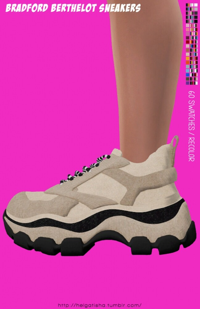 Sims 4 BRADFORD Berthelot Sneakers Recolors at Helga Tisha