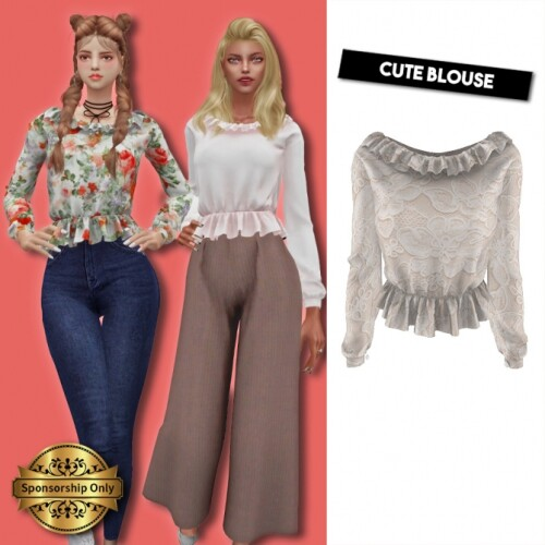 Cute blouse by Lsim