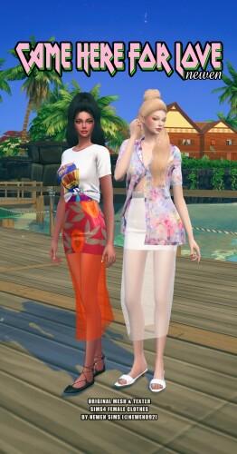 Skirts and shirts