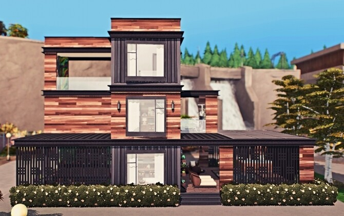 Sims 4 Eco Chic Container Home by Sooky