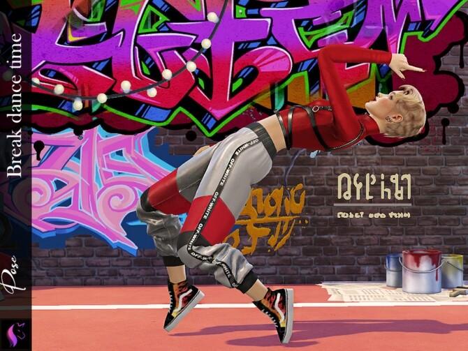Sims 4 Pose Break dance time by KaTPurpura at TSR