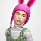 Louise hat with bunny ears for children