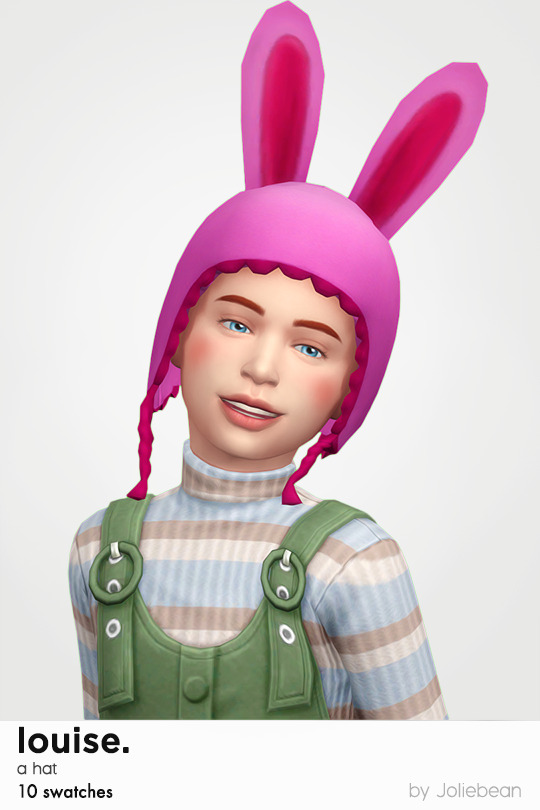 Louise hat with bunny ears for children at Joliebean image 17110 Sims 4 Updates